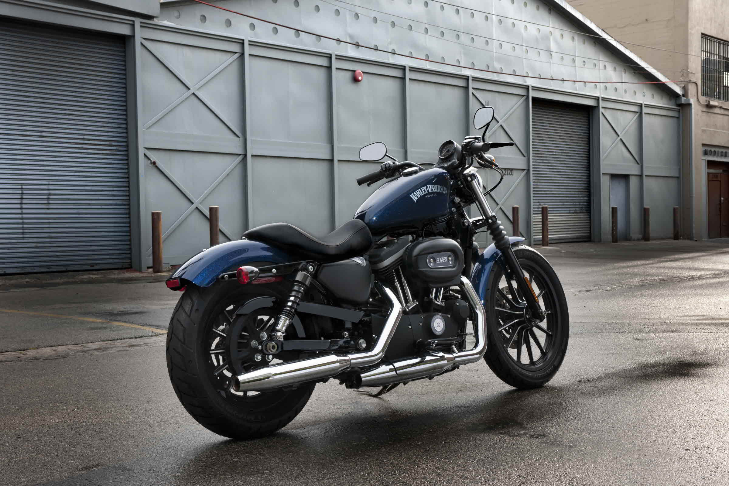 harley davidson sportster iron 883 no baffles. Black Bedroom Furniture Sets. Home Design Ideas