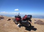 The F650GS on top of Pike's Peak.